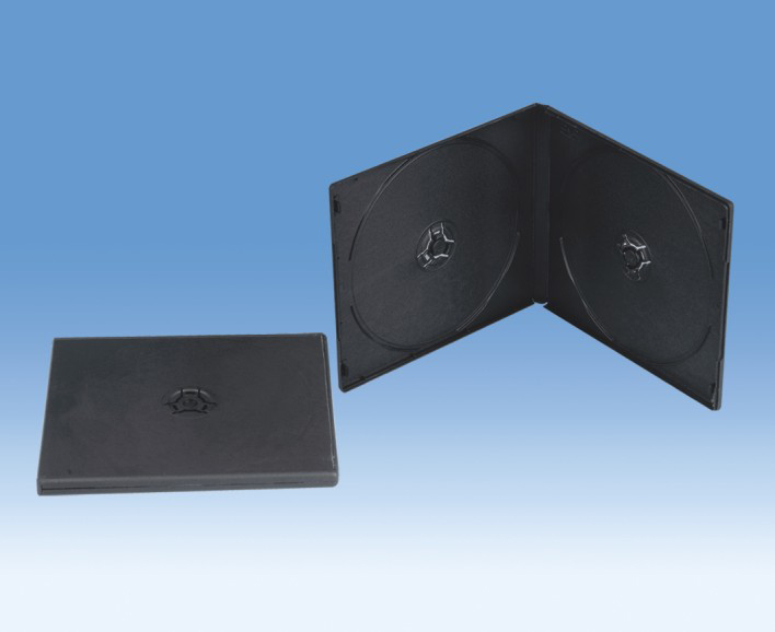 10MM SQUARE DOUBLE BLACK DVD CASE(YD-028)